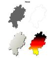 Hesse outline map set vector image vector image