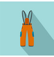 hiking pants icon flat style vector image vector image