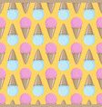 ice cream cone seamless pink yellow blue pattern vector image vector image