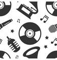 karaoke seamless pattern vector image