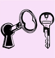 key keyhole vector image vector image