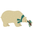 Little angel and polar bear vector image vector image