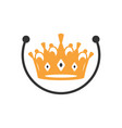 modern crown king logo vector image