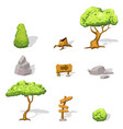 natural game design elements set vector image vector image