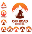 off road adventure motocross sport theme vector image
