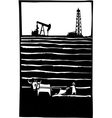 Oil and Farm vector image vector image