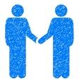 Persons Handshake Grainy Texture Icon vector image