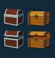 pirate chest or isolated trunk crate vector image vector image