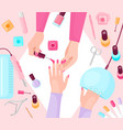 professional manicure table flat vector image vector image