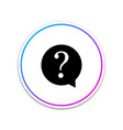 question mark in circle icon isolated on white vector image