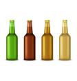 realistic detailed 3d beer bottle set vector image vector image