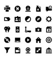 responsive user interface icons vector image
