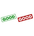 scratched good rubber prints with rounded vector image vector image