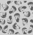 seamless pattern with bearded men face vector image