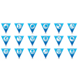 Set 18 sport BLUE triangular map pointer vector image vector image