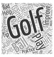 Seven Tips to Better Golf text background vector image vector image