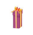 shopping box decorated by silk tape topped by bow vector image vector image