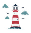 simple lighthouse print vector image vector image