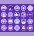 social network gears icons vector image