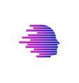 speed human head logo icon design vector image