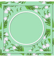 spring floral abstract background with snowdrop vector image vector image
