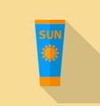 sun care sun protection tube sunscreen flat icon vector image