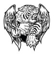tiger head wings logo wing brand and logoty vector image