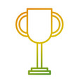 trophy award winner competition icon vector image vector image