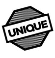 unique black stamp vector image vector image