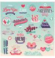 valentine emblems1 vector image vector image