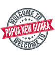 welcome to Papua New Guinea red round vintage vector image vector image
