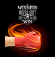 winners and quitters quotes vector image vector image