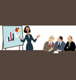 woman in a male-dominated field vector image vector image