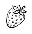 monochrome of strawberries logo vector image