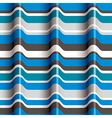 3d blue waves seamless pattern vector image vector image