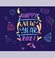 abstract 2021 happy new year vector image vector image