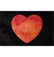 Abstract heart-shaped banner vector image