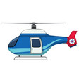 an isolated helicopter on white background vector image