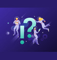 astronauts with exclamation and question marks vector image vector image