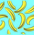 bananas seamless pattern on light vector image