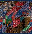 bandana kerchief fabric paisley fabric patchwork vector image vector image