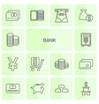 bank icons vector image vector image