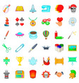 brush icons set cartoon style vector image vector image