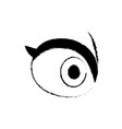 cartoon eye people vision look optic icon vector image vector image
