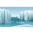 Cartoon realistic nature winter arctic ice vector image vector image