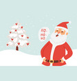 cartoon santa claus for christmas and new year vector image