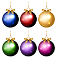christmas balls colorful isolated vector image vector image