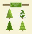 christmas tree types set vector image vector image