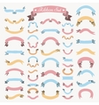 Colorful Hand Drawn Ribbons Banners Set vector image