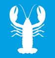 crayfish icon white vector image